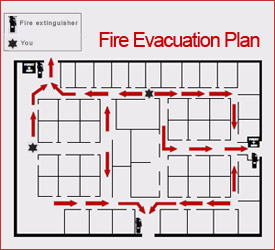 fire evacuation plan template for office - drilling floorplans over 5000 house plans